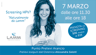 Screening Hpv | 7 Marzo 2018